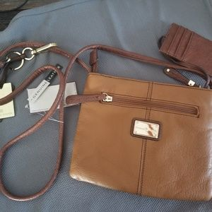 Etienne Aigner cross body brown leather